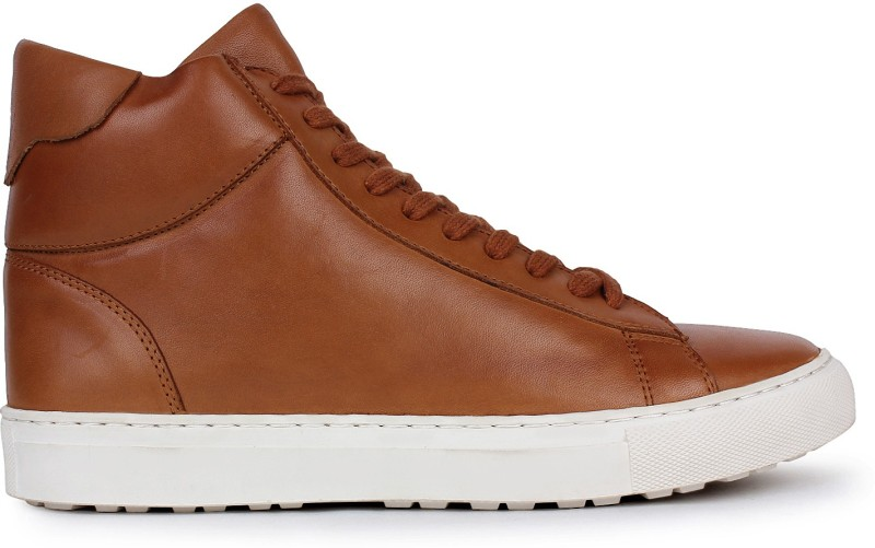 Whitesoul LEATHER TAN DERBY BOOT Casuals For Men(Brown)