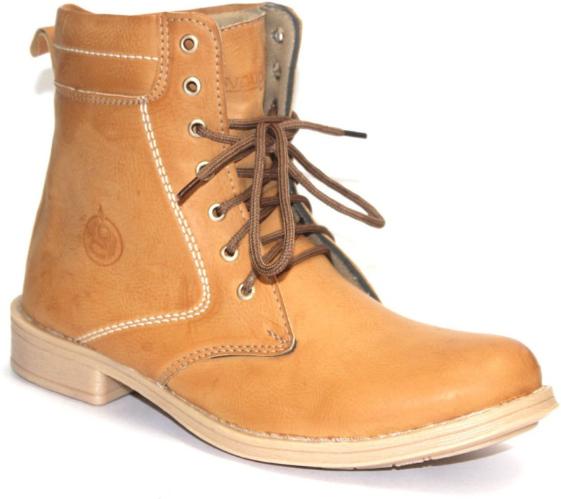 Guava Plain Toe Musterd Boots For Men(Tan)