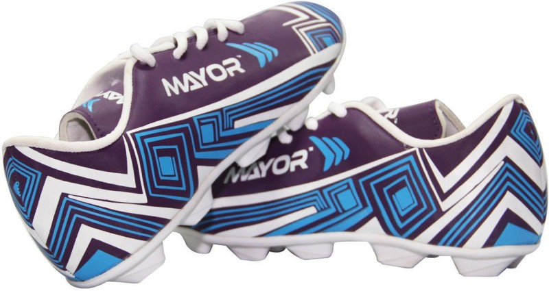 Mayor Casilla Women's Football Shoes For Women(3, Blue, Red) image