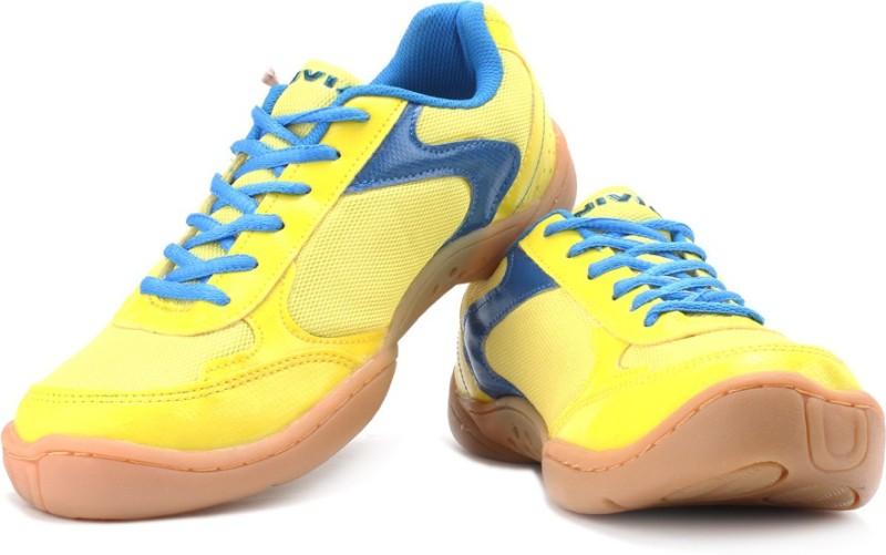 Nivia Flash Men Badminton Shoes For Men(Blue, Yellow)