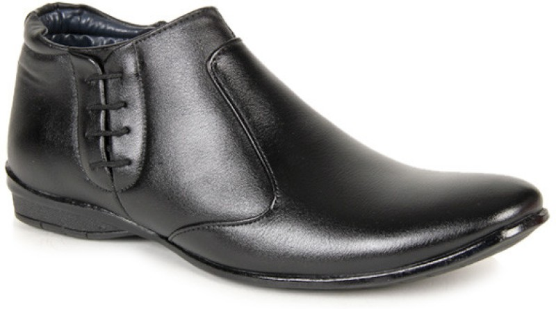Bacca Bucci Suave Ankle Length Slip On Shoes(Black)
