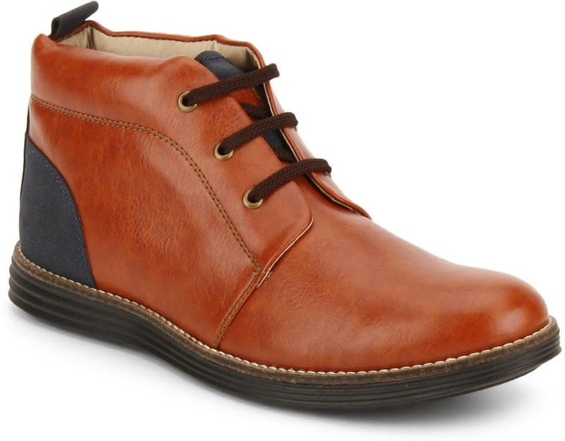 Knotty Derby Weasley Chukka Boots For Men(Tan, Blue)
