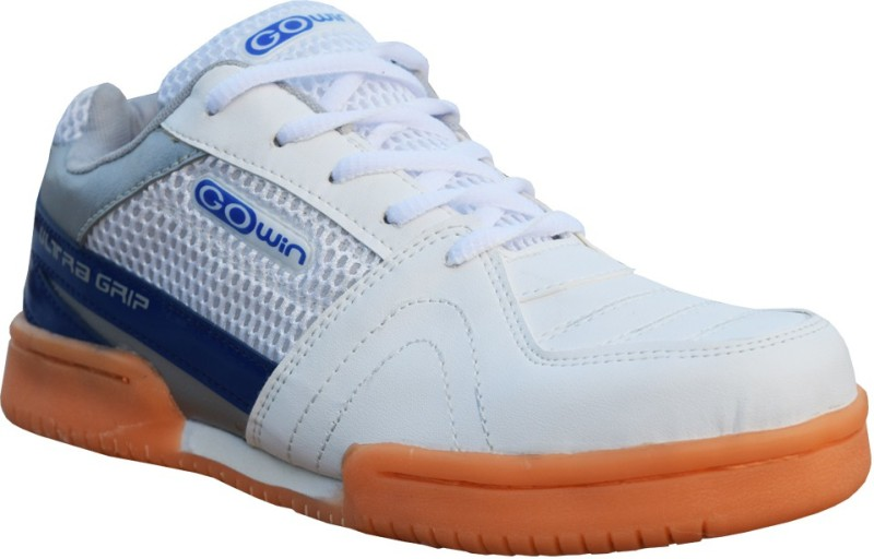 Gowin Ultra Grip Badminton Shoes For Women(White, Blue)