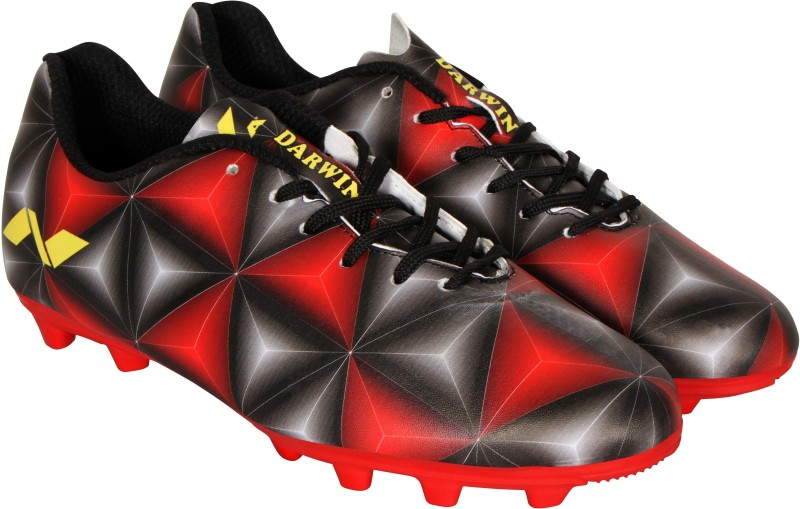 Nivia Darwin Football Shoes For Men(Black, Red)