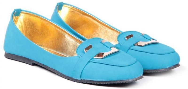 TEN Women Cool-Blue Finished Loafers(Blue)