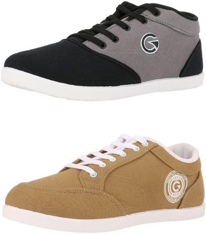 Globalite Crux and Stumble Sneakers(Black, Beige)