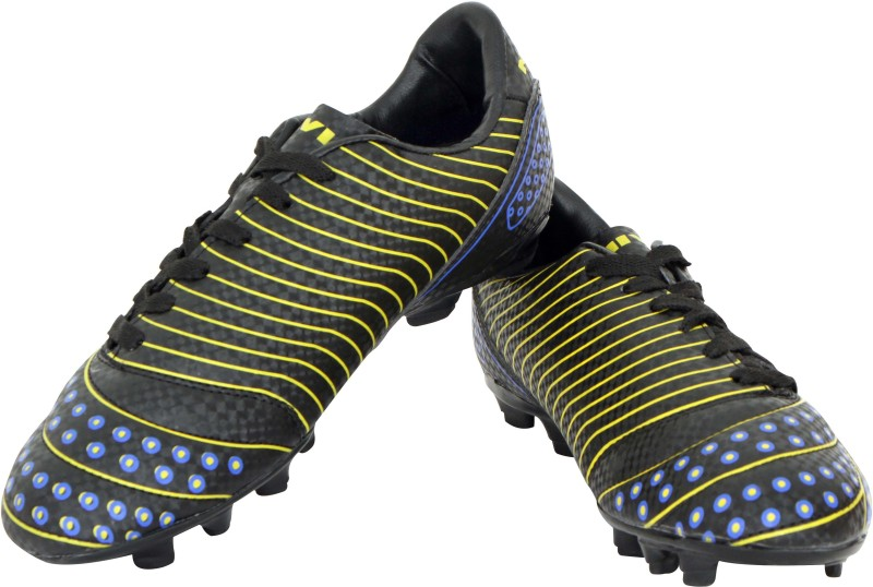 Nivia Marshall Football Shoes For Men(Black, Yellow)