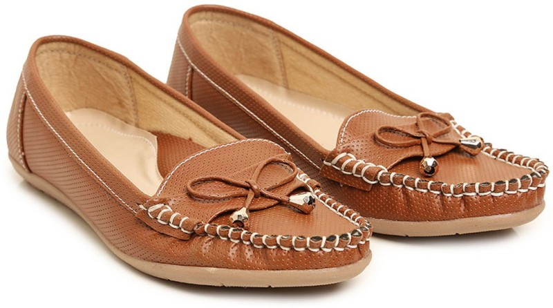 Bare Soles Loafers For Women(Brown)