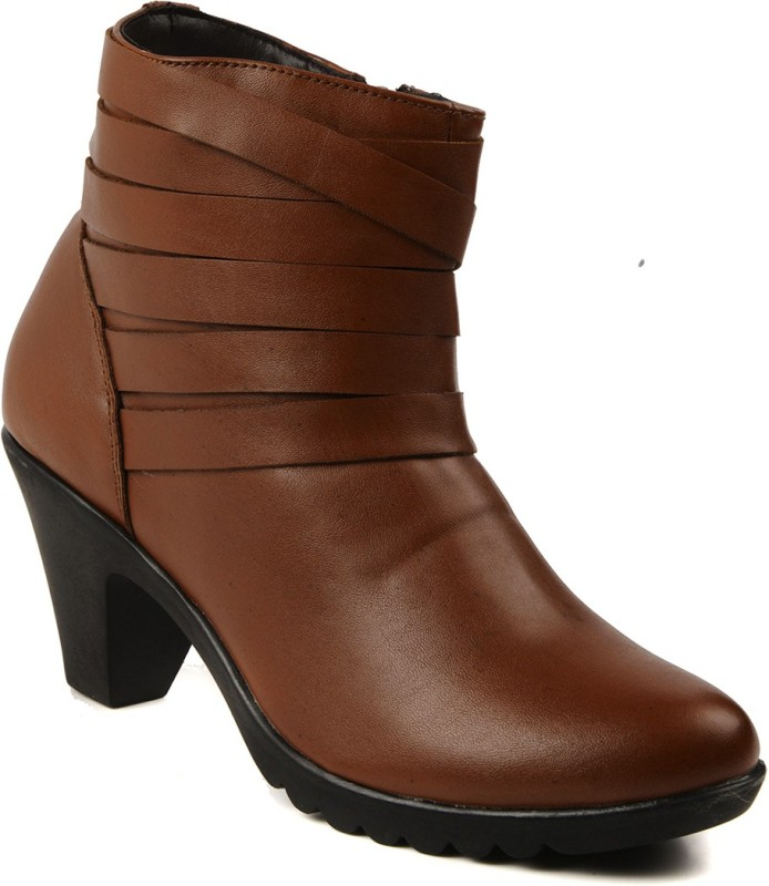 Bruno Manetti 5011 Boots For Women(Tan)