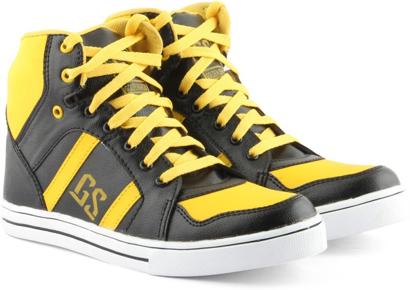 Golden Sparrow High Ankle Casuals(Black)