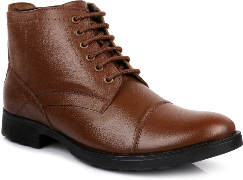 Escaro Leather Boots For Men(Tan)