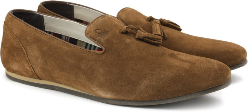 United Colors of Benetton 16A8SUEDFW38I Loafers For Men(Brown)