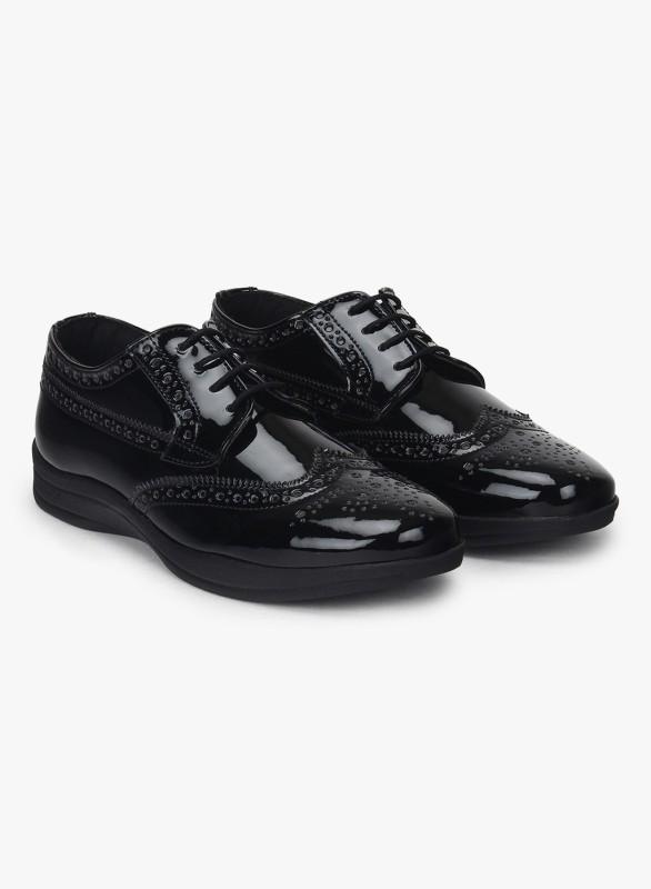 Knotty Derby Delacour Ankle Sneak Women's Boots For Women(35, Black) image