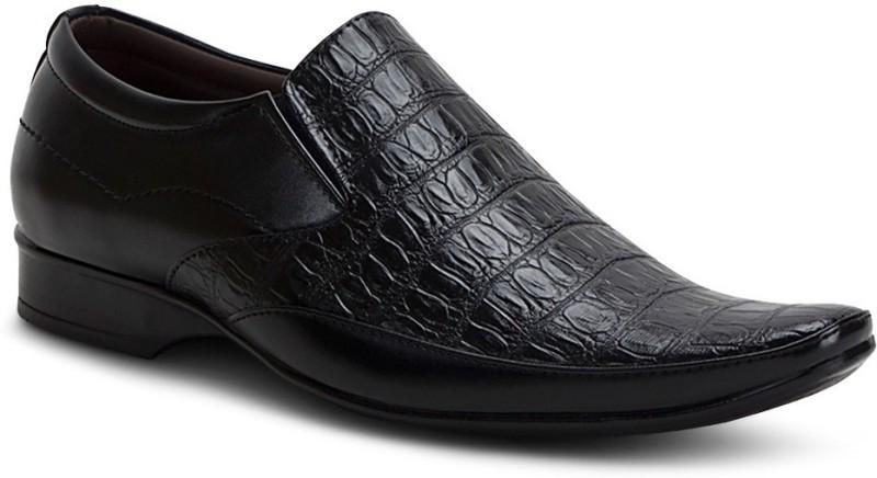 Get Glamr Stylish Formal Slip On Shoes For Men(Black)