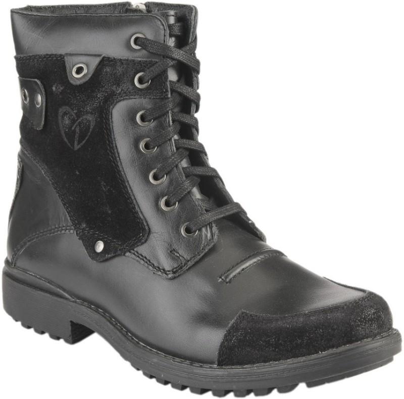Delize T-001 -Black Boots For Men(Black)