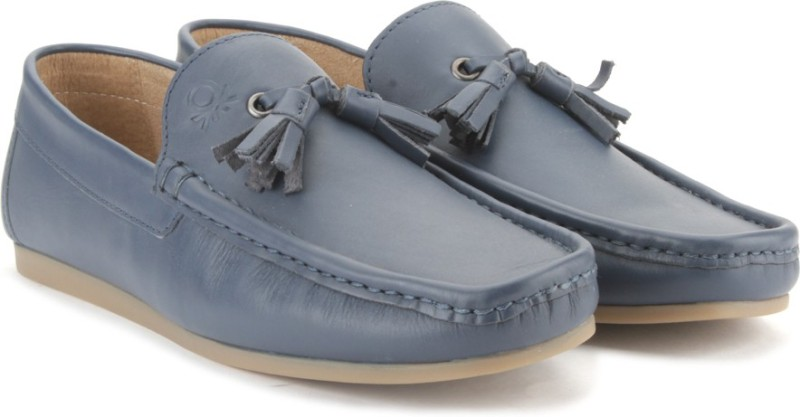 United Colors of Benetton Men Loafers For Men(Blue)
