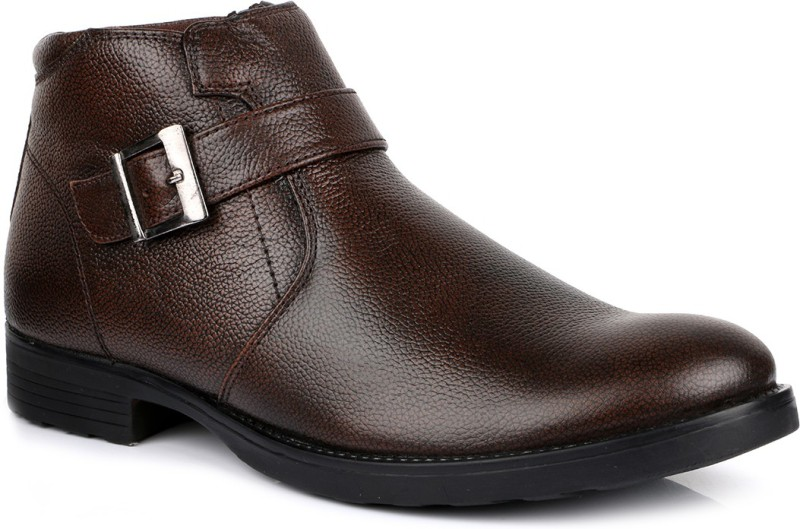 Escaro Leather Boots(Brown)