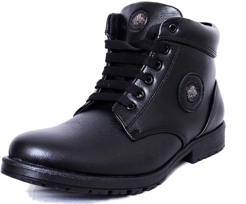 Black Tiger Men's Synthetic Leather Casual Shoes 091-Black-8 Casuals For Men(Black)