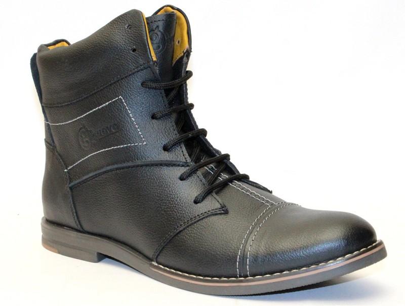 Guava Stylo Black Boots For Men(Black)
