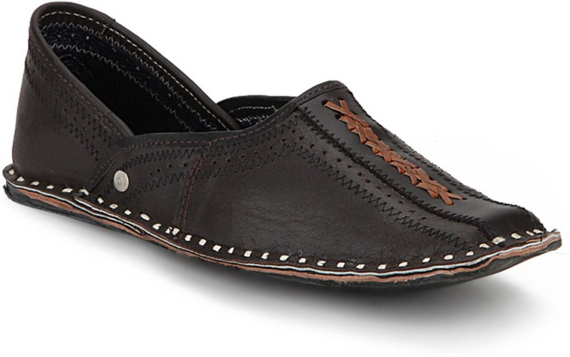 Paduki Men's Ethnic Mojaris For Men(8, Black) image