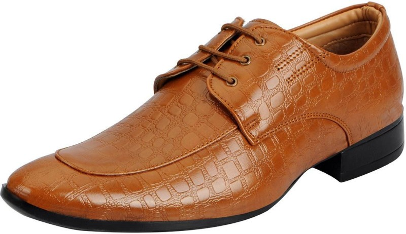 FAUSTO Lace Up For Men(Tan)