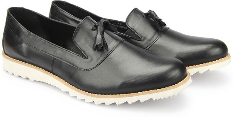 Knotty Derby Colin Tassle Loafers For Men(Black)