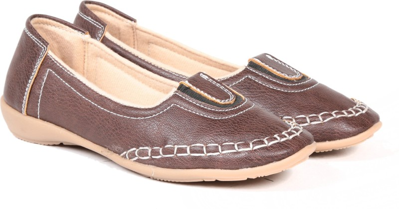 TEN TEN Womens Brown Loafers/Moccasins Casual Shoes(Brown)