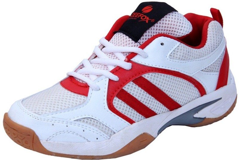 Zeefox 3300F-RED Badminton Shoes For Men(White)