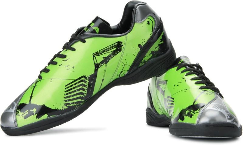 Nivia Oslar Futsal Football Shoes For Men(Black, Green, Grey)