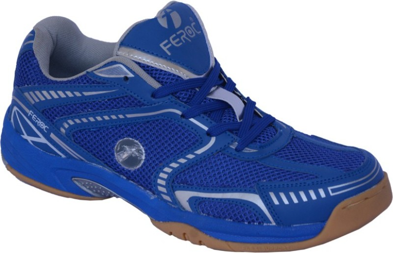 Feroc Blue Badminton Shoes For Men(Blue)