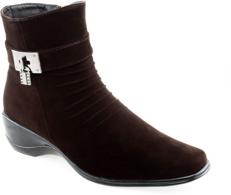 Shuz Touch Women's Boots For Women(41, Brown) image