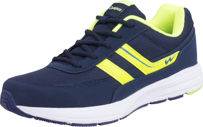 Campus ATHENS Running Shoes For Men(Navy, Green)