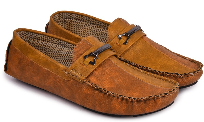 Andrew Scott Mens Tan Synthetic Loafers For Men(Tan)