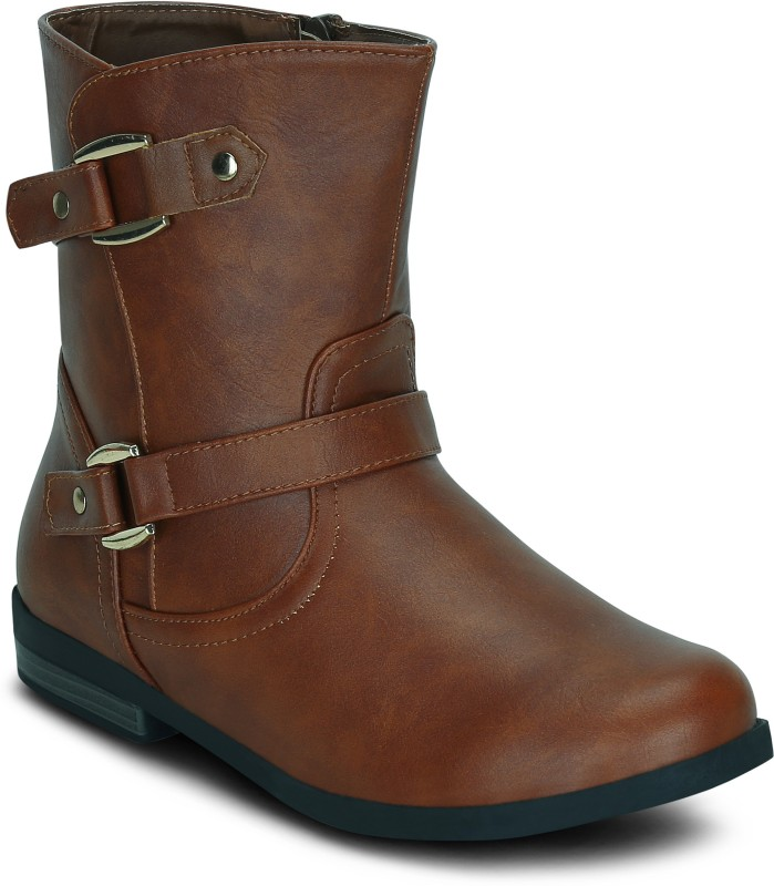 Get Glamr BRYAN Boots For Women(Tan)
