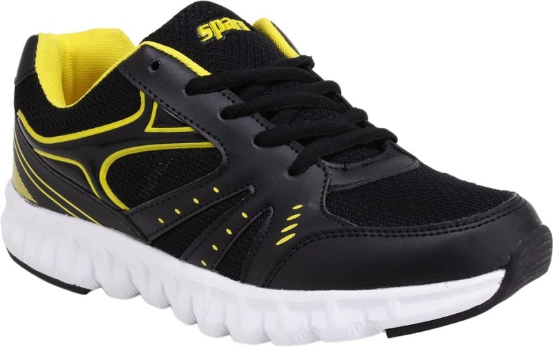 Sparx Trendy Black Yellow Running ShoesBlack Yello