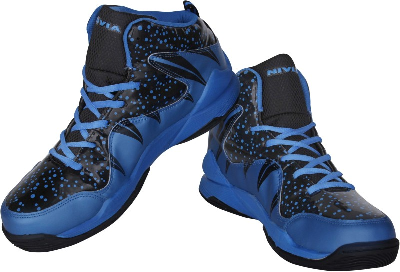 Nivia Warrior-1 Basketball Shoes For Men(Black, Blue)
