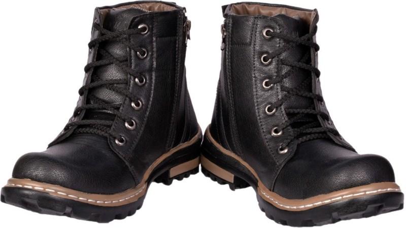 Prolific Zipper Boots For Men(Black)
