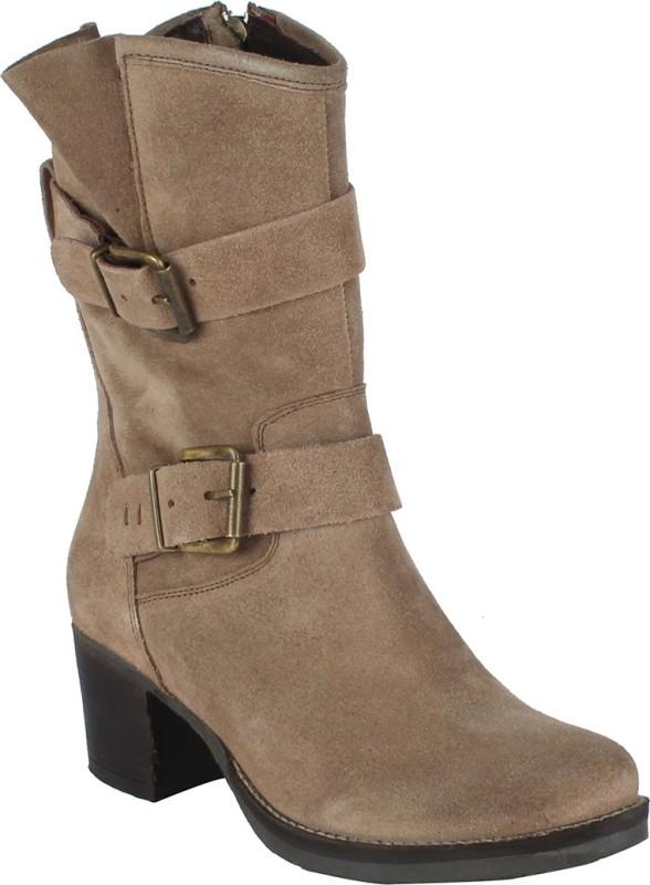 Salt N Pepper 14-391 Juliet Sand Suede Boots Boots For Women(Beige)