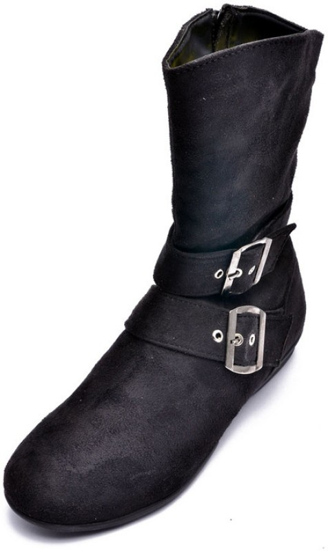 Bruno Manetti Aiimaa Women's Boots For Women(39, Black) image