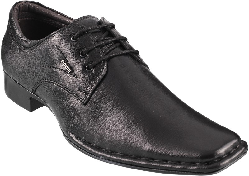 Mochi Formal Lace Up Shoes For Men(Black)