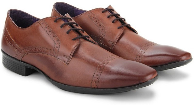 Knotty Derby Brogue Derby Lace Up For Men(Brown)