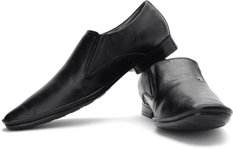 Mochi Formal Slip On Shoes For Men(Black)