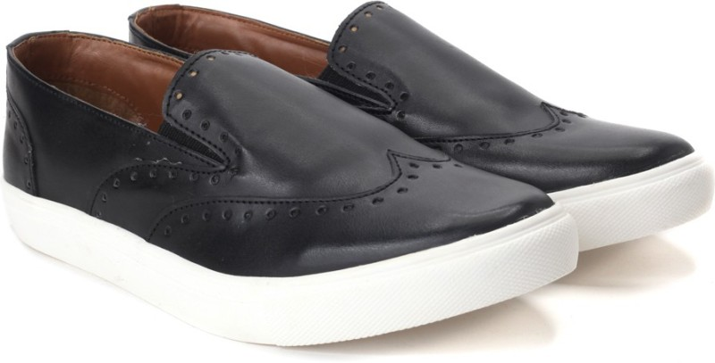 Knotty Derby Lockhart Brogue Loafer Sneakers For Men(Black)