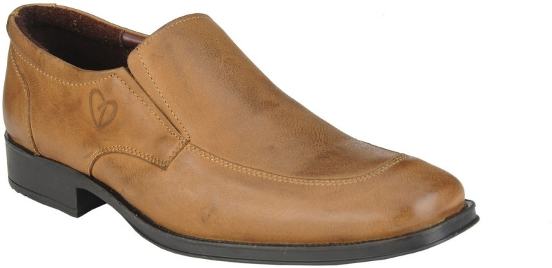 Delize 64874-Tan Slip On Shoes(Tan)