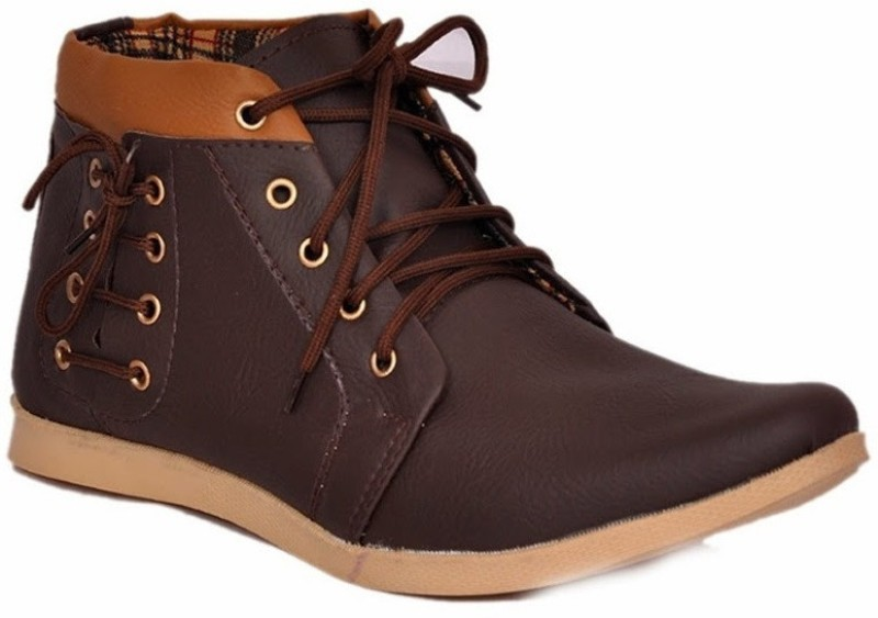 Footista Side Lace Boots(Brown)