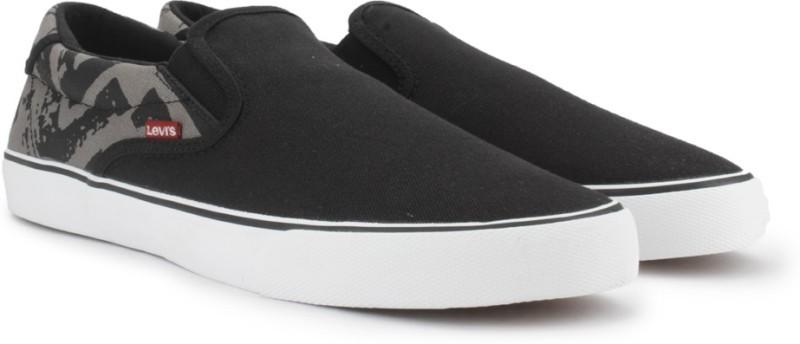 Levis Men Canvas Shoes For Men(Black)