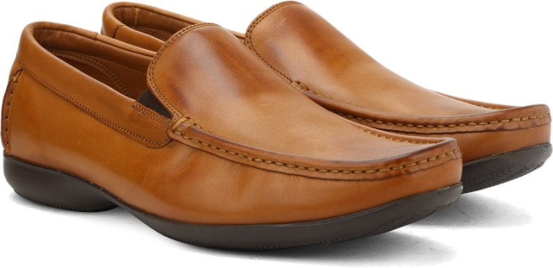 Clarks FINER SUN TAN LEATHER Slip On For Men(Tan)