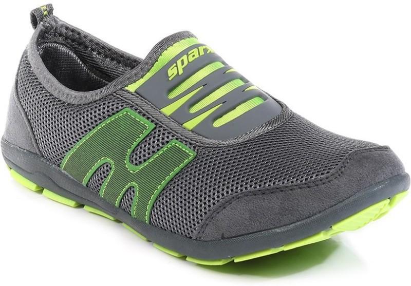 Sparx Stylish Grey Florocent Green Running ShoesGr
