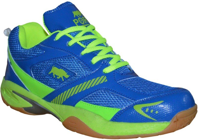 Port TRANS Badminton Shoes For Men(Blue)