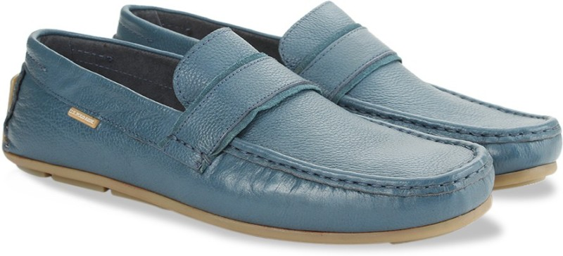 U.S. Polo Assn Leather Loafers Loafers For Men(Blue)